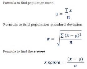 Opulate Meaning Z Score Or Standard Value Calculator