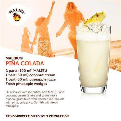 malibu pina colada mix recipe the classic malibu pina colada cocktails and recipes