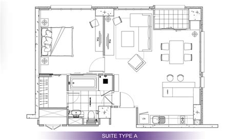 floor plans with in suite srinakrarin serviced residence hotel vertical suite