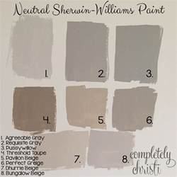 neutral sherwin williams paint colors