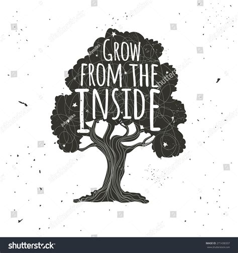 Trees Trees Typography Black vector typography poster with black tree with