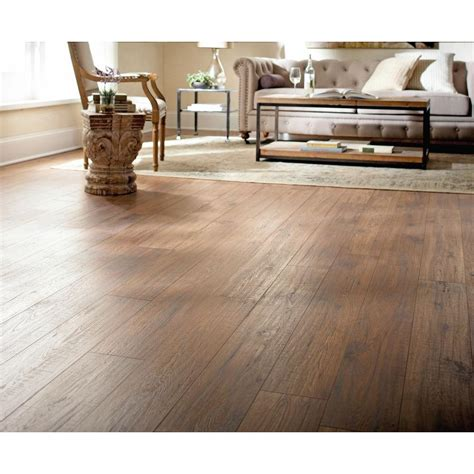 Home Decorators Collection Flooring Home Decorators Collection Distressed Brown Hickory 12 Mm Thick X 6 1 4 In Wide X 50 25 32 In