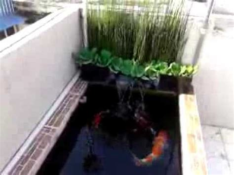 mini koi pond filtration system diy youtube