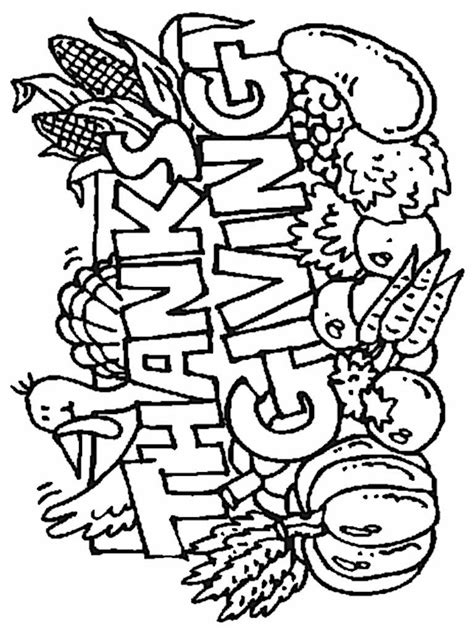 coloring pages thanksgiving to print free coloring pages of thanksgiving
