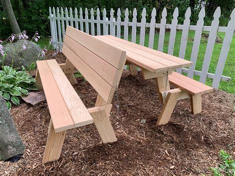 large  combination folding picnic table park bench