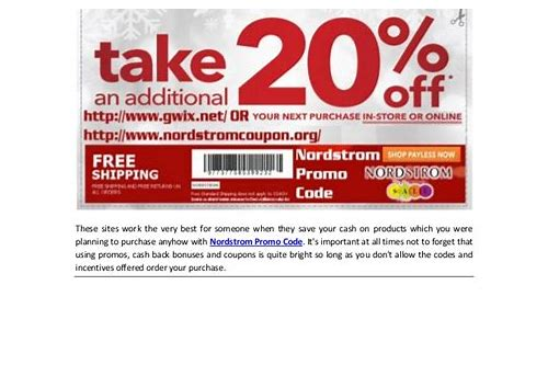 nordstrom coupon promotion code online
