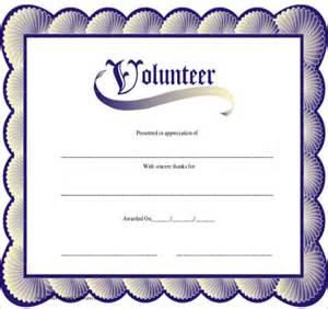 Sample Volunteer Certificate Template   10  Free Documents