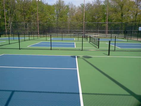 Backyard Tennis Courts Pickleball Court Surfaces Backyard Court Builders