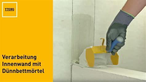 Ytong Steine Kleber by Ytong Porenbeton Verarbeitung Innenwand Mit