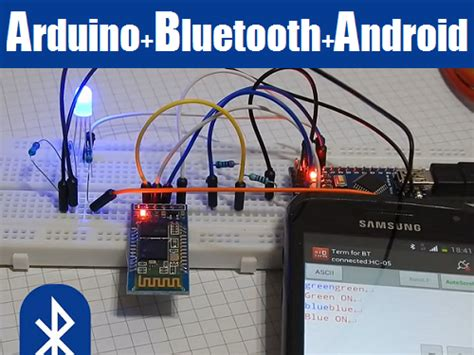 tutorial arduino bluetooth android control arduino with android intresting things