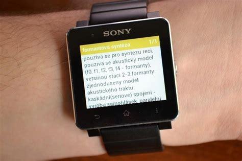Smartwacth V 5 aplikac 237 kter 233 by nem茆ly v sony smartwatch chyb茆t