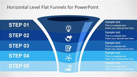 powerpoint funnel template free flat funnel powerpoint template slidemodel