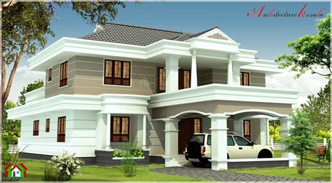 kerala home design 3000 sq ft 3000 sqft contemporary style kerala house elevation