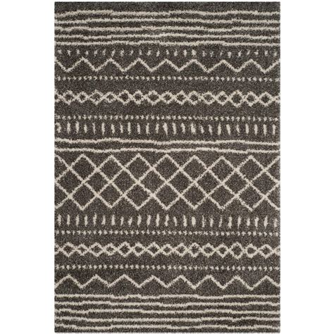 10 Foot Area Rugs by Safavieh Arizona Shag Brown Ivory 8 Ft X 10 Ft Area Rug