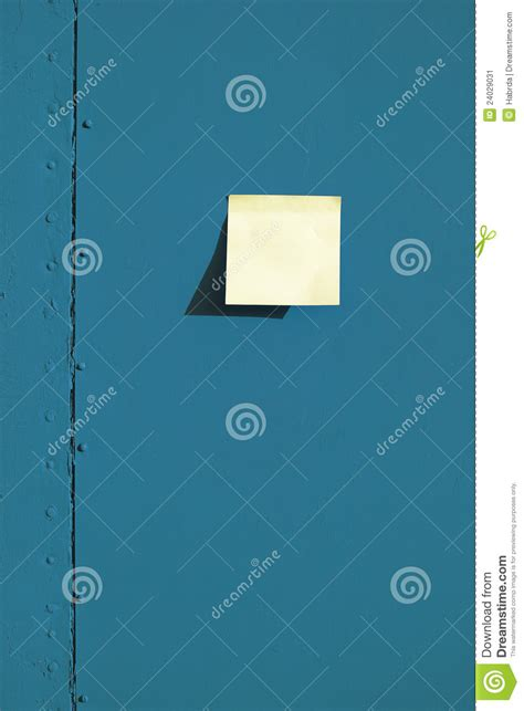 stick paper stick paper on the board stock image image 24029031