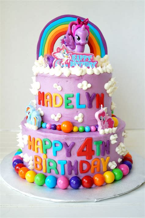Fancy Kitchen Designs by My Little Pony Tiered Birthday Cake The Baking Fairy