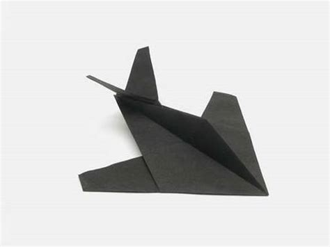 Origami Stealth Fighter - origami stealth figther by robert j lang tutorial