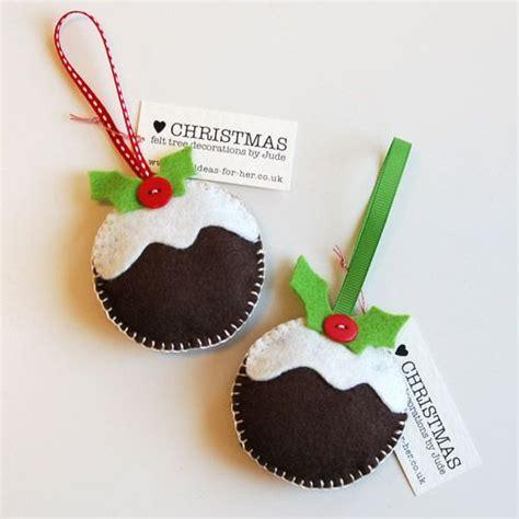 how to make christmas felt decorations christmas pudding