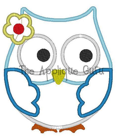 owl embroidery design applique girl owl applique machine embroidery design