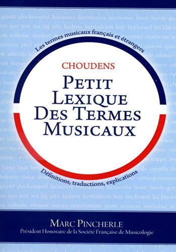 lexique des termes litteraires wolf musique partitions livres sur la musique