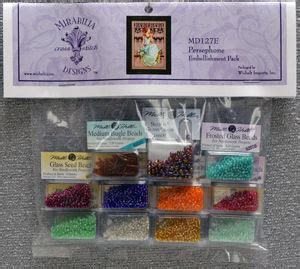 Mill Hill Glass Size 6 Glass Mauvepurple 16609 persephone embellishment pack and treasures by