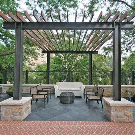 Fireplace Plans Outdoor - 50 awesome pergola design ideas steel pergola modern industrial and pergolas