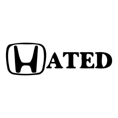 Witzige Aufkleber by Hated Sticker Honda Car Decals Funny Stickers