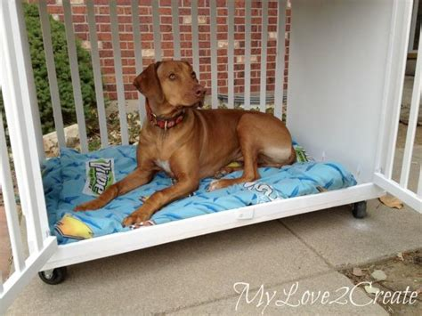 diy dog r for bed 8 creative ways to repurpose your baby s crib tlcme tlc