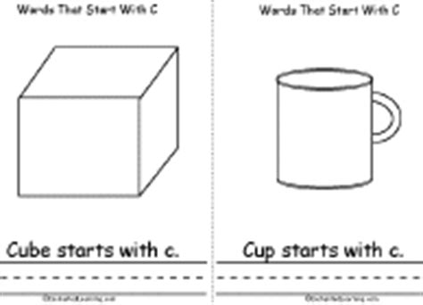 Cube Enchantedlearning - words that start with c book a printable book cube cup
