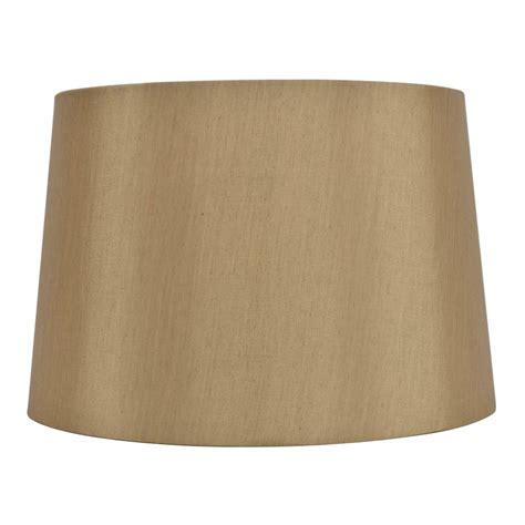 allen roth l shades shop allen roth 10 in x 15 in gold fabric drum l
