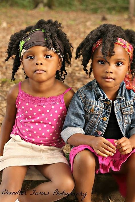 African Twins Hair Bread Style | 25 natural hair styles for kids natural kids pinterest