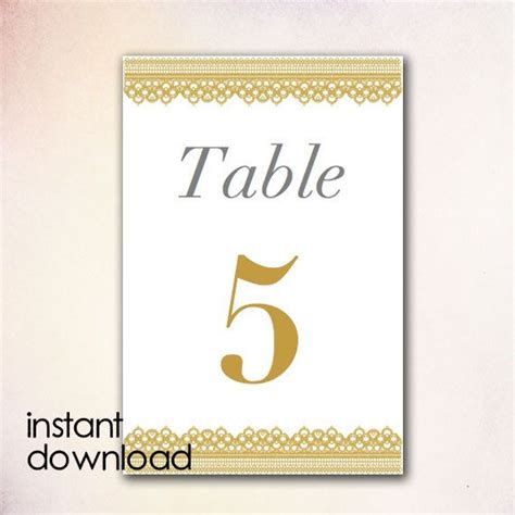 Table Numbers Template Diy Table Numbers Template Instant Download By Cheapobride