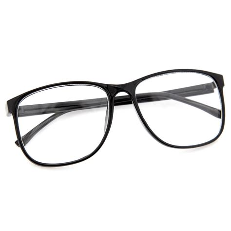 Oversized Frame Glasses by Large Oversized Wayfarer Style Clear Lens Sunglasses