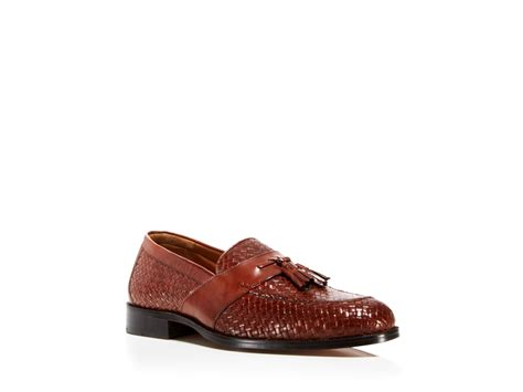 johnston and murphy tassel loafers johnston murphy stratton woven tassel loafers in brown