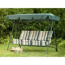 Zellers Patio Cushions Sears Garden Oasis 3 Person Swing Replacement Canopy