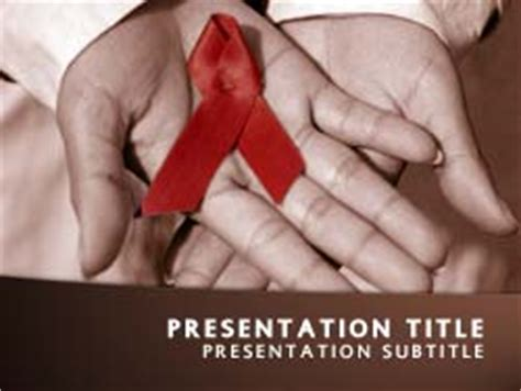 powerpoint templates free hiv royalty free hiv aids powerpoint template in orange
