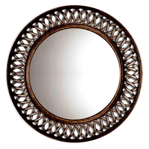 oil rubbed bronze bathroom mirrors shop oil rubbed bronze round framed wall mirror at lowes com