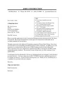 sle construction cover letter the best letter sle