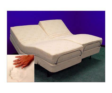 adjustable beds  memory foam split kingcal king