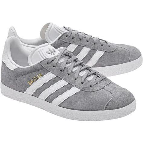 Adidas Gazelle Suede Grey adidas originals gazelle mid grey flat suede sneakers