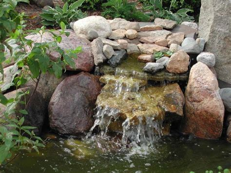 how to make a backyard waterfall small pond waterfall garden ponds pinterest