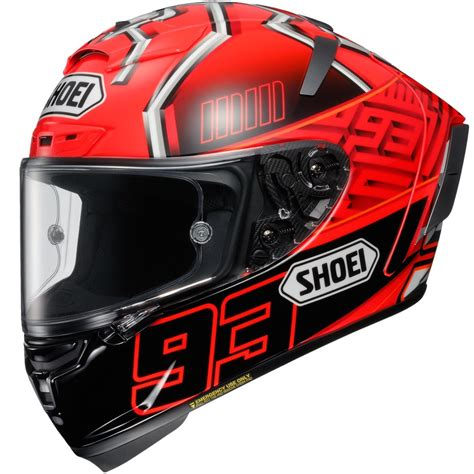 Helm Balap Shoei shoei x spirit 3 marquez 4 tc 1 helmet 183 motocard