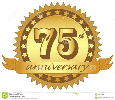 75th wedding anniversary symbol 75th anniversary logo clipart