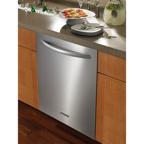 kitchenaid 24 quot stainless steel built in dishwasher