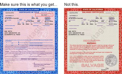 Title Application Meaning Registering A Car With A Salvage Title Not A Salvage