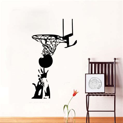 pitched basketball rebound wall stickers sports art