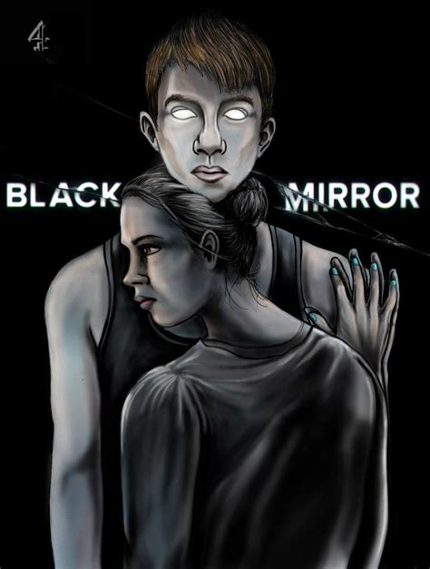 black mirror depressing illustration based on charlie brooker s series black