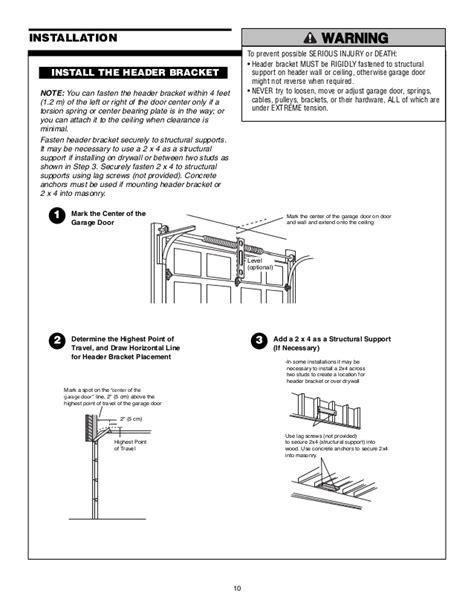 Chamberlain Garage Door Opener Manual Chamberlain Garage Door Opener Installation Manual