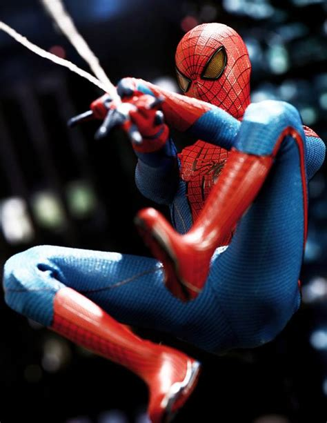 amazing spider man swinging hot toys amazing spider man figure mms 179 released