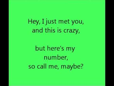 testo call me maybe call me maybe jepsen testo